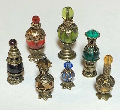 1:12 Miniature Dollhouse GLASS BOTTLES Decanters WIZARD WITCH Diorama Room Box