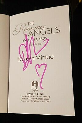 SIGNED Romance Angels Oracle Cards- Doreen Virtue- OOP