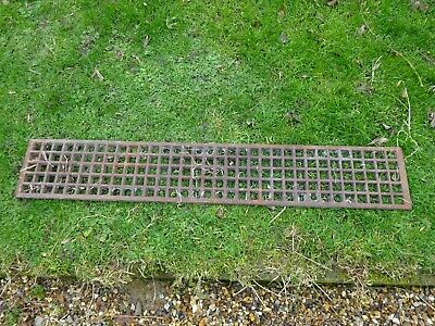 VICTORIAN CAST IRON GRILL 3ft LONG COVER GENUINE ORIGINAL
