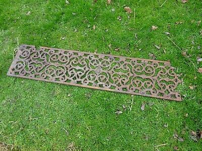 Heavy Victorian Cast Iron Grill 45 Inches  Long Cover Genuine Original