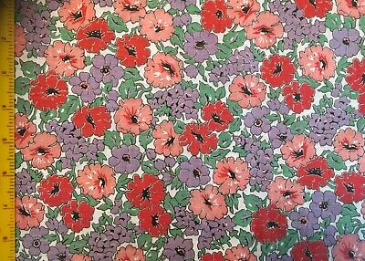 Vintage cotton fabric 1930s/1940s. Lovely !