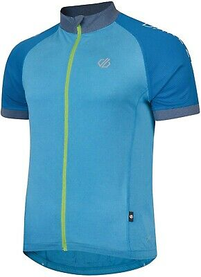 Dare2B Accurate Short Sleeve Mens Cycling Jersey - Blue