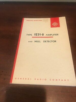 Vtg GENERAL RADIO Operating Instructions TYPE 1560-P40 PREAMPLIFIER GR BOOK