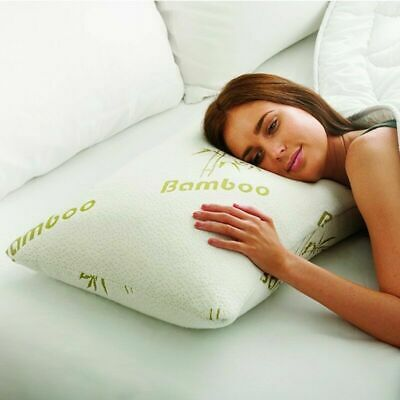 Bamboo Memory Foam Pillow Anti Bacterial Orthopaedic Firm Head Neck Back Support