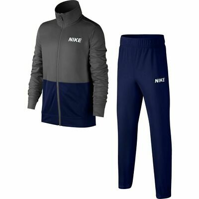 Nike Sportswear Boys Tracksuit Poly  Grey Blue  CD7496 021