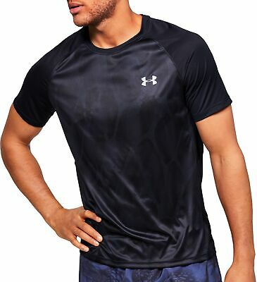 Under Armour Qualifier Iso-Chill Printed Short Sleeve Mens Running Top - Black