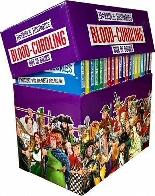 Horrible Histories Books Blood Curdling Collection 20 Books Box Gift Set PB NEW