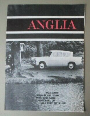 FORD ANGLIA 105E orig 1963 UK Mkt Sales Brochure - De Luxe Super Estate Car