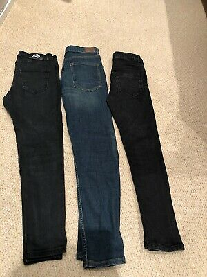 KWD, River Island & Other Boys Jeans 11-12 Years 3 Pairs