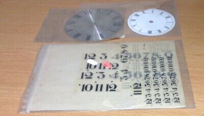 Vintage Clock Dials Faces NOS Metal + Numerals Ex Clockmakers Spare Parts