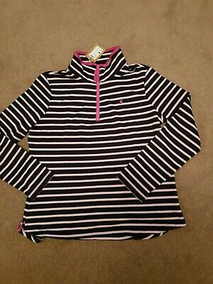 New!! Joules Pink and Blue Striped Sweatshirt  Size 14 BNWT