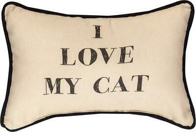 I Love My Cat Word Pillow