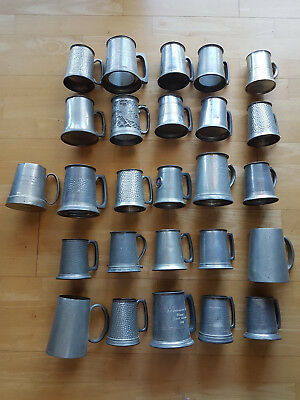 Pewter Mugs Collection assorted x 24