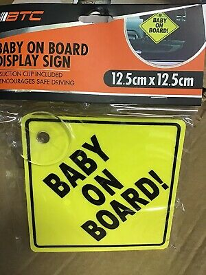 Baby On Board Sign Suction