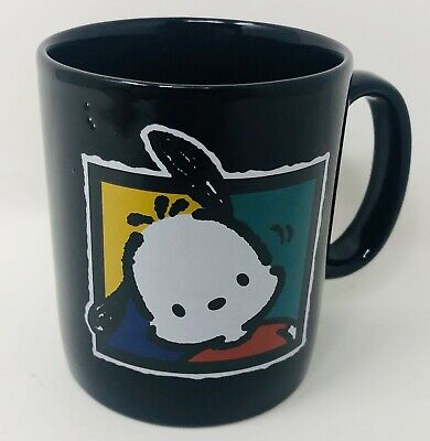 Htf Sanrio Pochacco Black Coffee Mug Cup Ceramic 1994