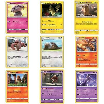 Detective Pikachu - Single Holo Movie Promo Cards FREE plastic sleeve with card