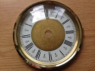 Vintage Clock Brass Bezel Door Dial Face Glass 100mm Ex Clockmakers Spare Parts