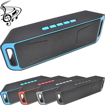 fWIRELESS BLUETOOTH SPEAKER HIGH BASS PORTABLE INDOOR OUTDOOR STEREO LOUDSPEAKER