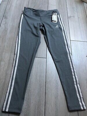 Junior Girls Adidas Grey Leggings 8-10yrs Old Small Leggings Bnwt RRP £39.99