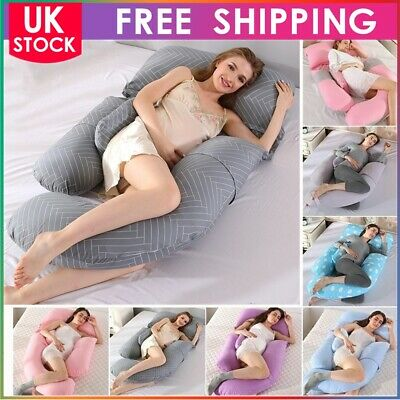 Comfort G Shaped Pillow & Case - Full Total Body Pregnancy Maternity Support