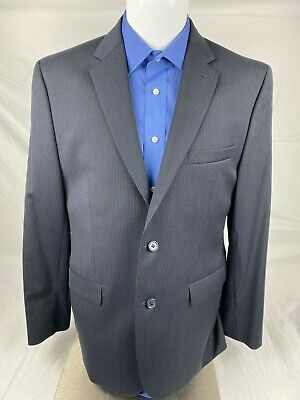 Joe Joseph Abboud Mens Large Dress Suits Navy Blue Pin Stripe