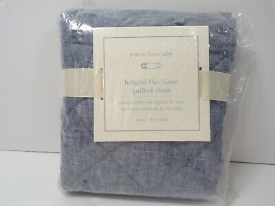 "Pottery Barn Baby Linen Decorative Nursery Sham 12x16"" Indigo #6682"