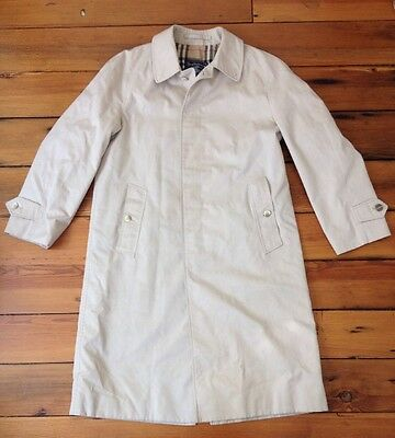 """Vtg Burberry Prorsum Made in England Cotton Blend Mens Trench Coat 44R 44"""" Chst"""