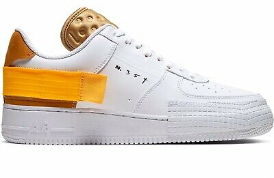 NIKE AIR FORCE AF 1 Type N.354 White Gold Trainers UK 9 US