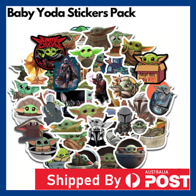 Baby Yoda Mandalorian Stickers Decal Pop Culture Laptop Phone Car Book Vinyl