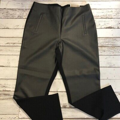 Chicos Juliet Faux Leather Ankle Pants - Size    NWT