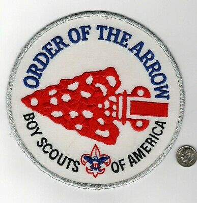 """Order of the Arrow Red Ghost 6/"""" OA Jacket Patch Boy Scouts of America"""
