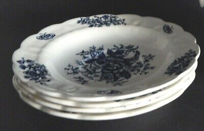 Excellent vintage BOOTHS blue /& white covered casserole serving dish A8021 PEONY