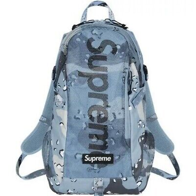 Supreme Arctic Blue Chocolate Chip Camo Backpack SS20 *IN HAND* Ready To Ship