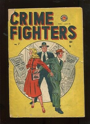 Crime Fighters #7 (4.0) Early Marvel