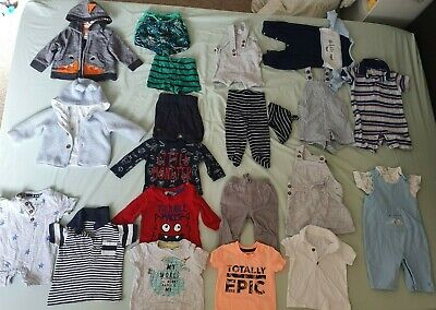 Huge Baby Boys 0-3 months clothes bundle 60+ items