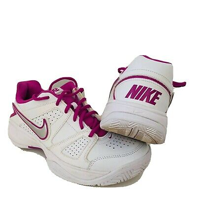 Women's Nike City Court White & Pink Trainers UK 7 EU 41 US 9.5