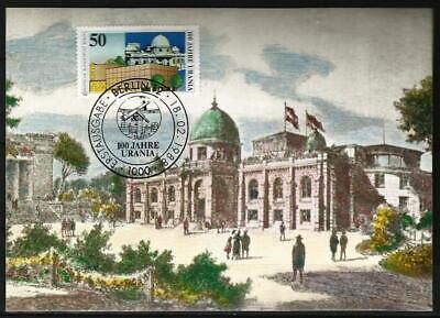 Germany Berlin Maxi Card 1988 Architecture Urania Science Museum Old Building