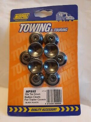 Tie Down Button Cleats For Trailer Covers X10 - Plastic Cover Maypole 995