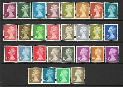 28 Different UM/MNH Elliptical Perforation Machins As Scanned Post Free(UK)