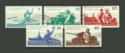 German DDR 1962 The National Army Stamps - VG/F - Used