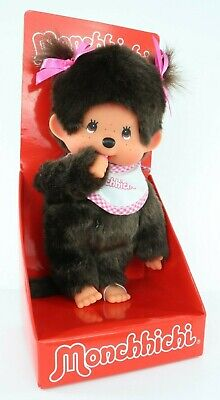 Monchhichi Twin Tail Monkey Girl Thumb Sucking 20cm 255550 NEW in Package