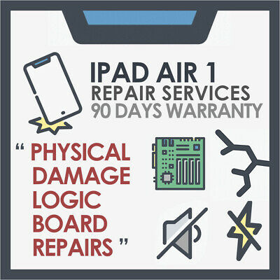 """iPad Air 1 - """" Physical Damage & Motherboard Logic board Issue """" Repair service"""