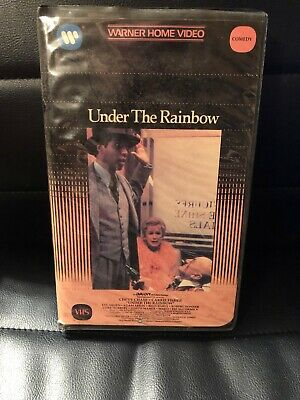 Under The Rainbow Carrie Fisher 📼 Vhs Warner Video Big Clamshell Case Tested