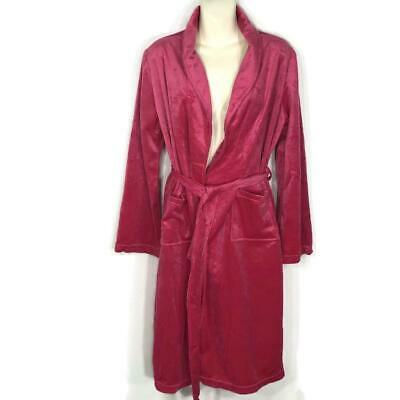 Ulta Pink Robe Bathrobe Short Plush Womans S M Small Medium Gift ~  NEW