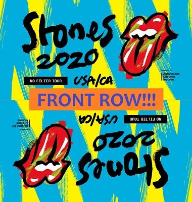 3 The Rolling Stones Front Row Tickets 5/20 Nissan Stadium, Nashville Postponed