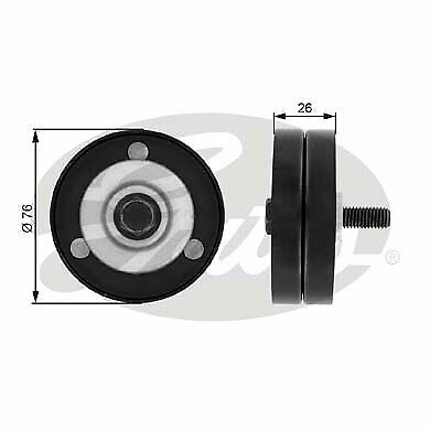 Aux Belt Idler Pulley T36734 Gates Guide Deflection 6392000370 A6392000370 New
