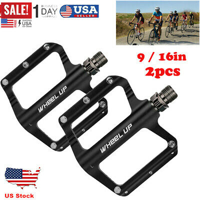 "Road Bike Foot Paddle 4.49/"" x 3.98/"" Mountain Bicycle Palin Pedal Aluminum 1Pair"