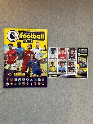 Panini Football 2020 Premier League Official Sticker Album Book With 6 stickers!