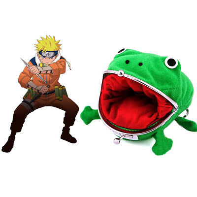 Naruto Frog Shape Uzumaki Wallet Coin Purse Green Cosplay Plush Cute @ami