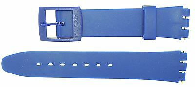 New 17mm (20mm) Size Replacement Strap Compatible for Swatch® Watch - Blue